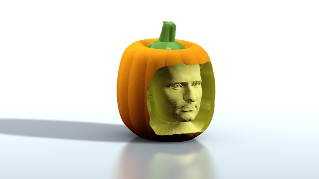 head in the pumpkin